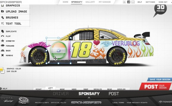 Design Your Own Toyota Racing