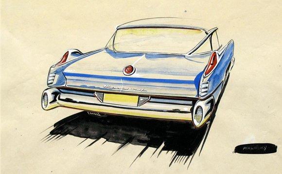 1957 Mercury design sketch